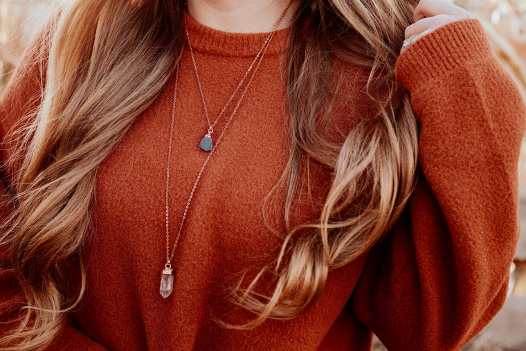 AIR Element Necklace // Rose Gold, Gold, or Silver