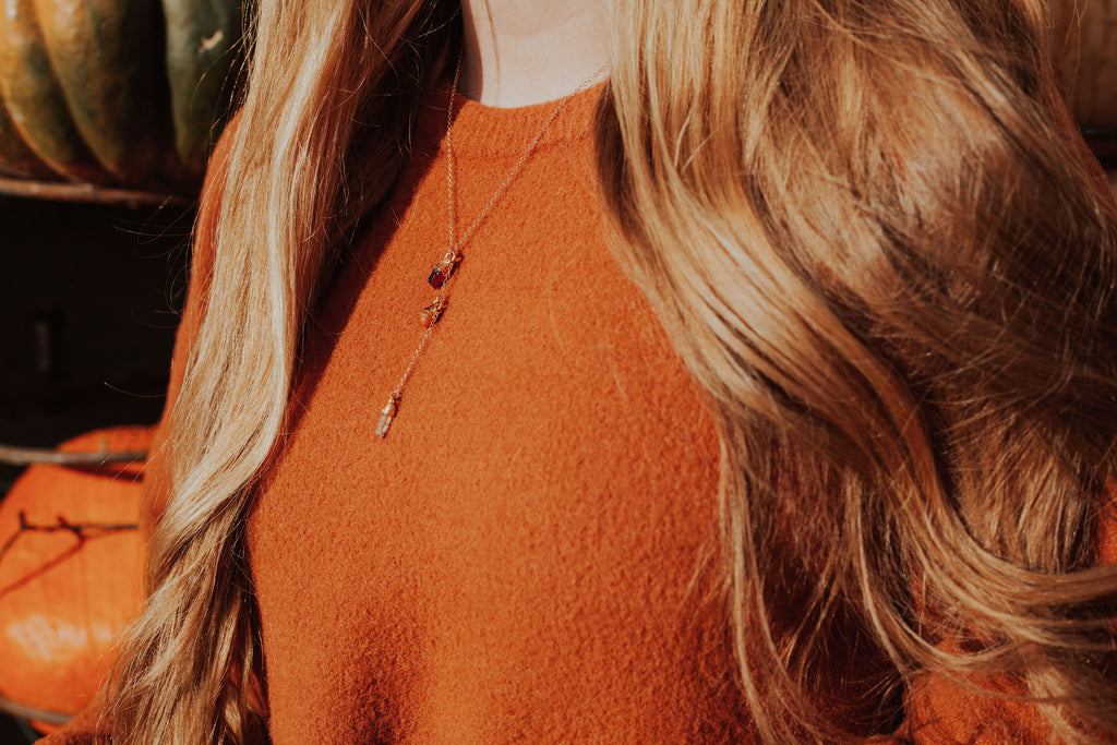FIRE Element Necklace // Rose Gold, Gold, or Silver