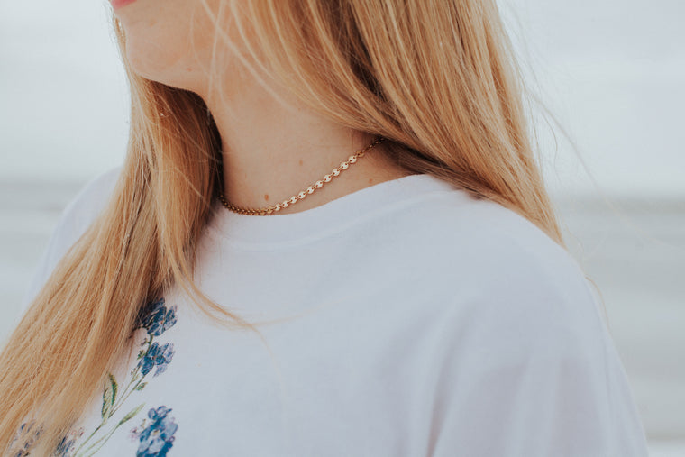 Pebble Choker // Rose Gold, Gold, or Silver - Little Sycamore