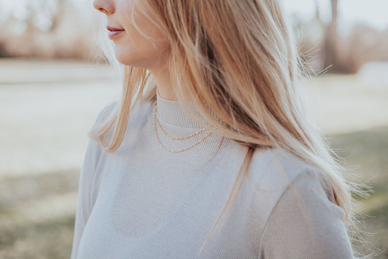 Layered Ripple Choker // Rose Gold, Gold, or Silver - Little Sycamore