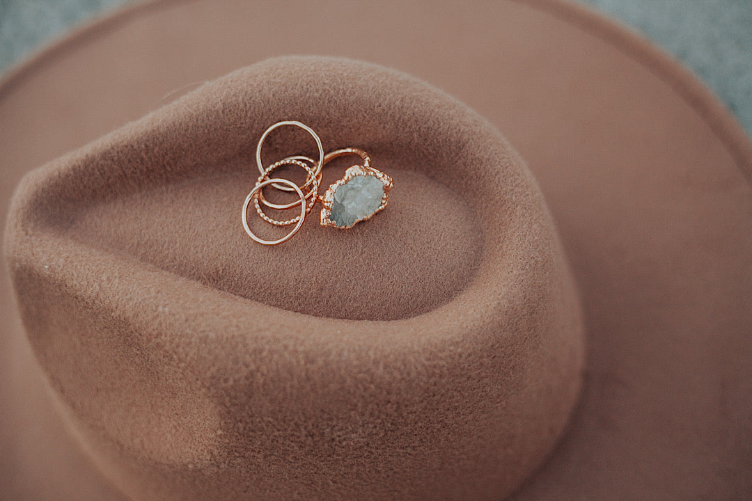 Wave Ring // Rose Gold, Gold, or Silver
