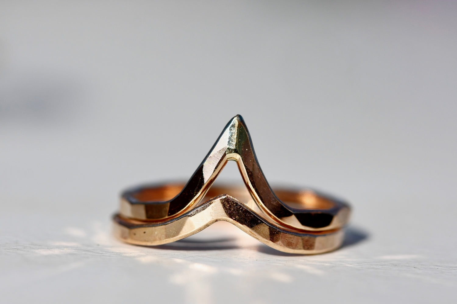 Everest Peak Ring // Rose Gold, Gold, or Silver - Little Sycamore