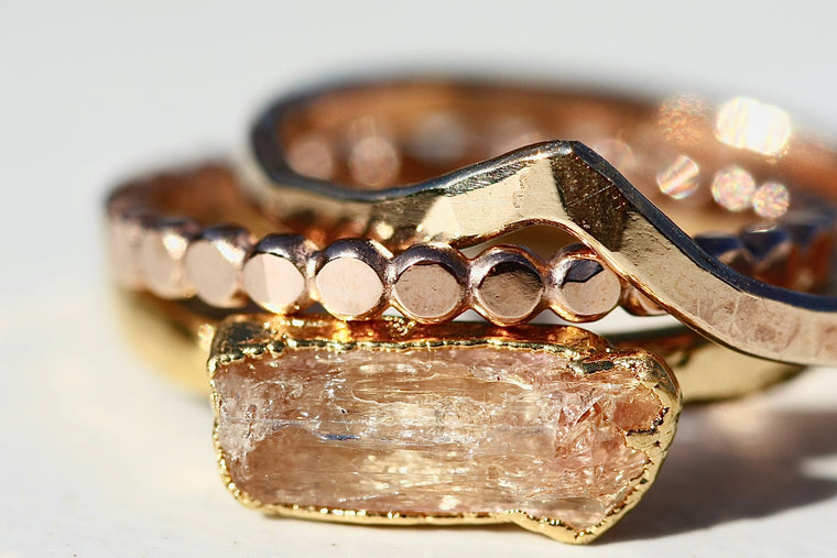 November Stackable Ring (single stone) // Rose Gold, Gold, or Silver