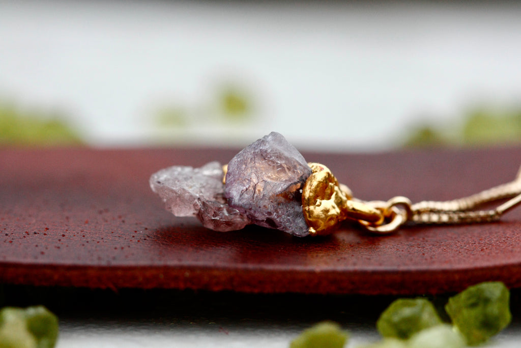 Peridot or Spinel Drop Earrings // Rose Gold, Gold, or Silver - Little Sycamore