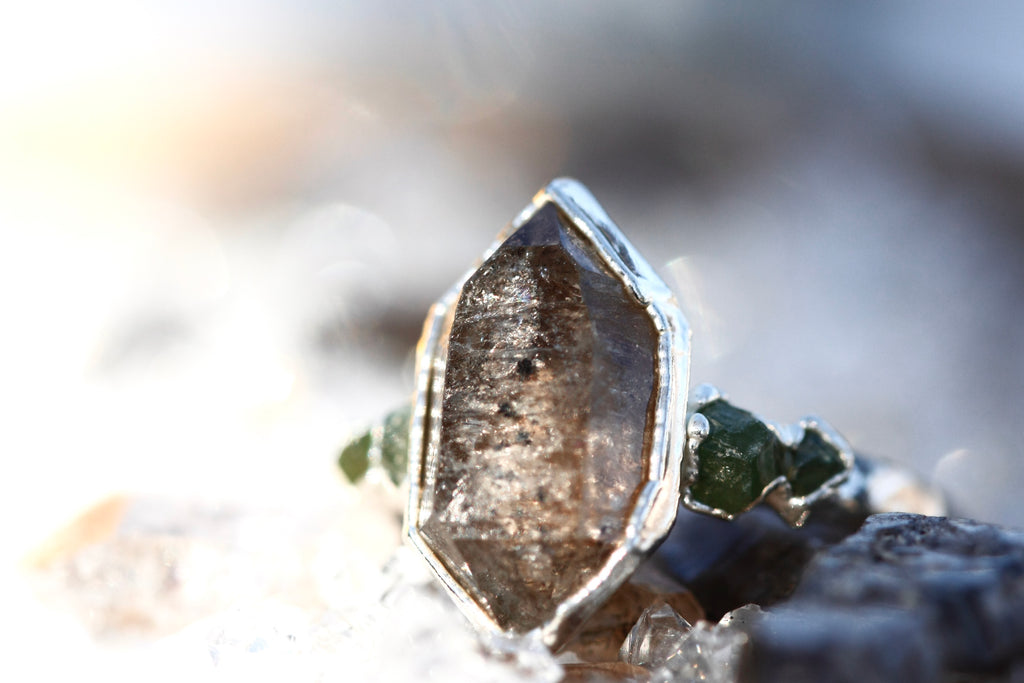 EARTH Element Ring // Rose Gold, Gold, or Silver - Little Sycamore