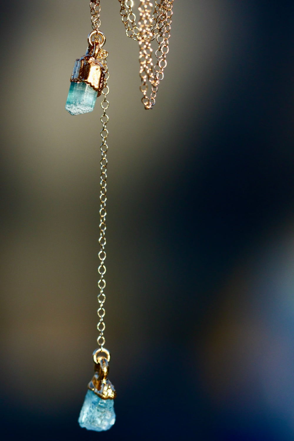 WATER Element Necklace // Rose Gold, Gold, or Silver - Little Sycamore