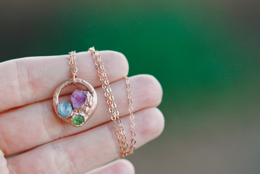 Mothers Circle Necklace // Rose Gold, Gold, Silver - Little Sycamore