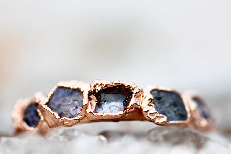 December Stackable Ring (tanzanite) // Rose Gold, Gold, or Silver