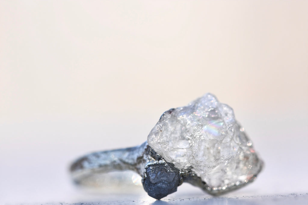 High End Raw Stone & Diamond Rings - Little Sycamore