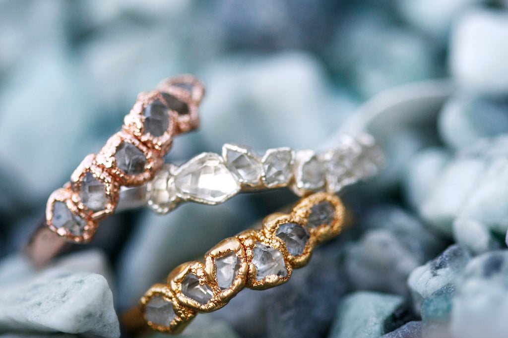 April Stackable Ring (multi stone) // Rose Gold, Gold, or Silver - Little Sycamore