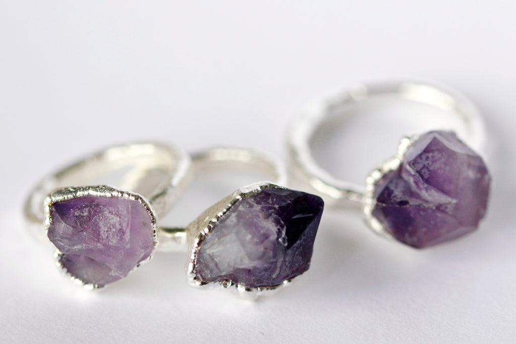 Amethyst Cluster Ring // Silver - Little Sycamore