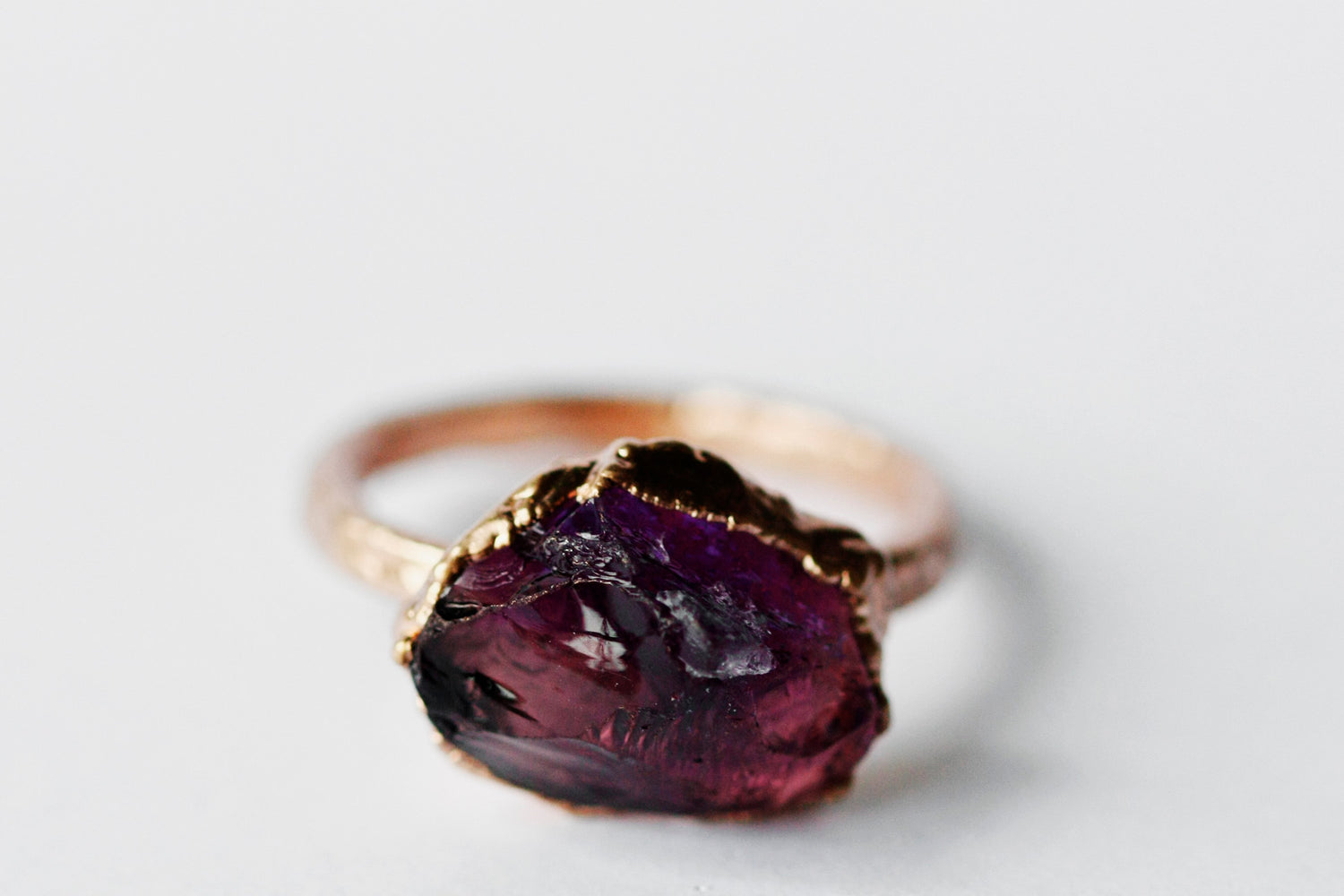 February Statement Ring // Rose Gold - Little Sycamore