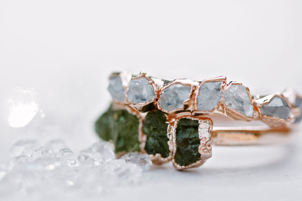 August Stackable Ring (multi stone) // Rose Gold, Gold, or Silver - Little Sycamore
