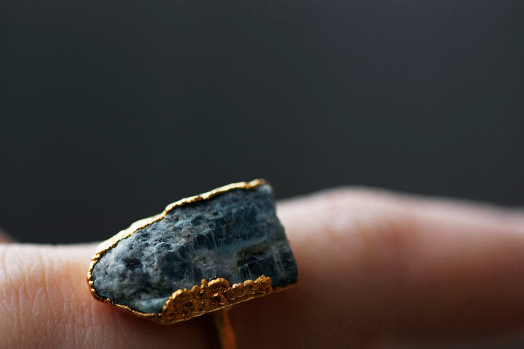 Kyanite Statement Ring // Gold or Silver - Little Sycamore