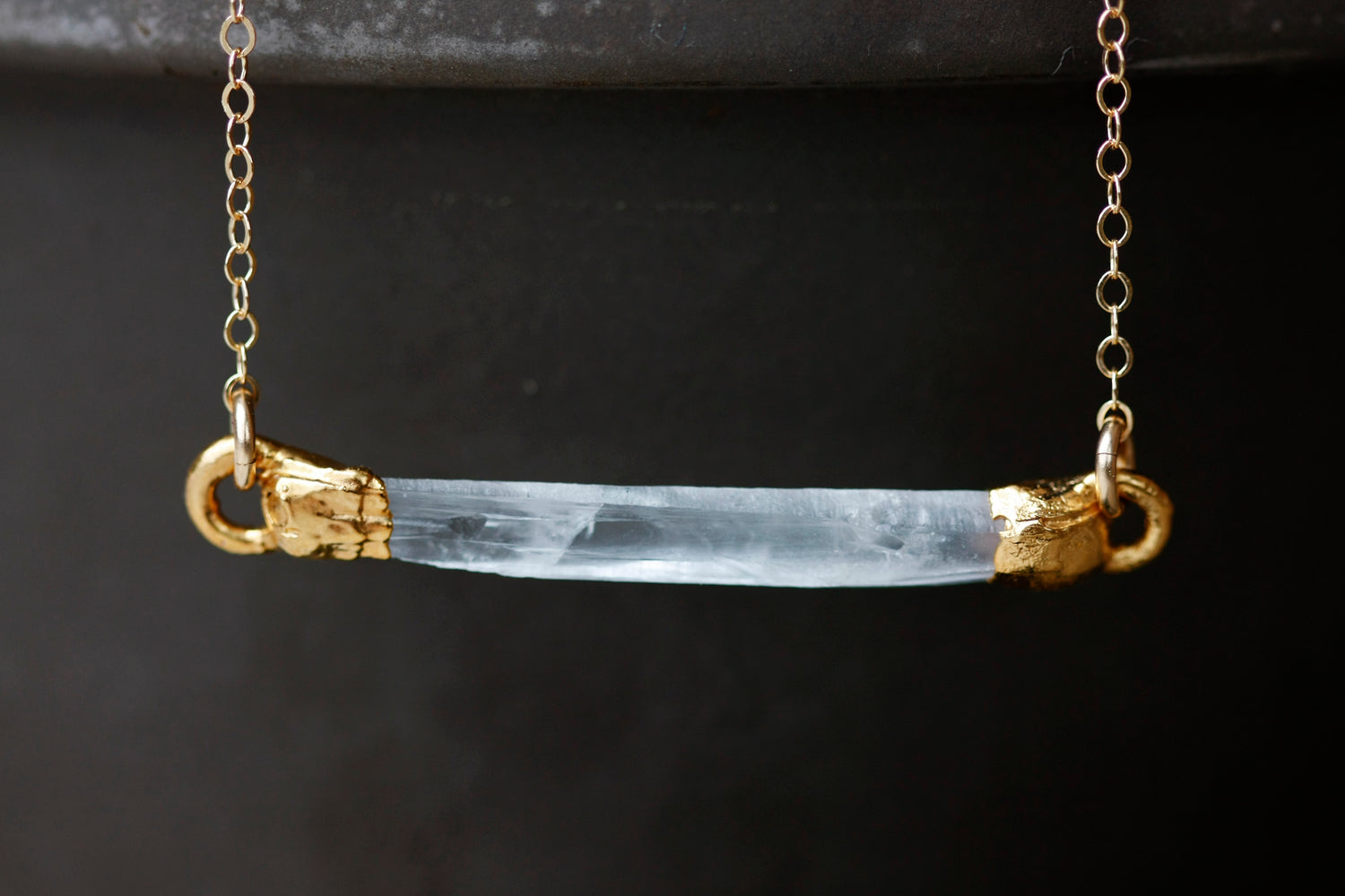 Crystal Bar Necklace // Rose Gold, Gold, or Silver - Little Sycamore