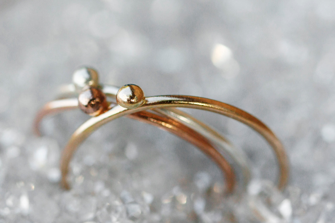 Dew Drop Ring // Rose Gold, Gold, or Silver - Little Sycamore