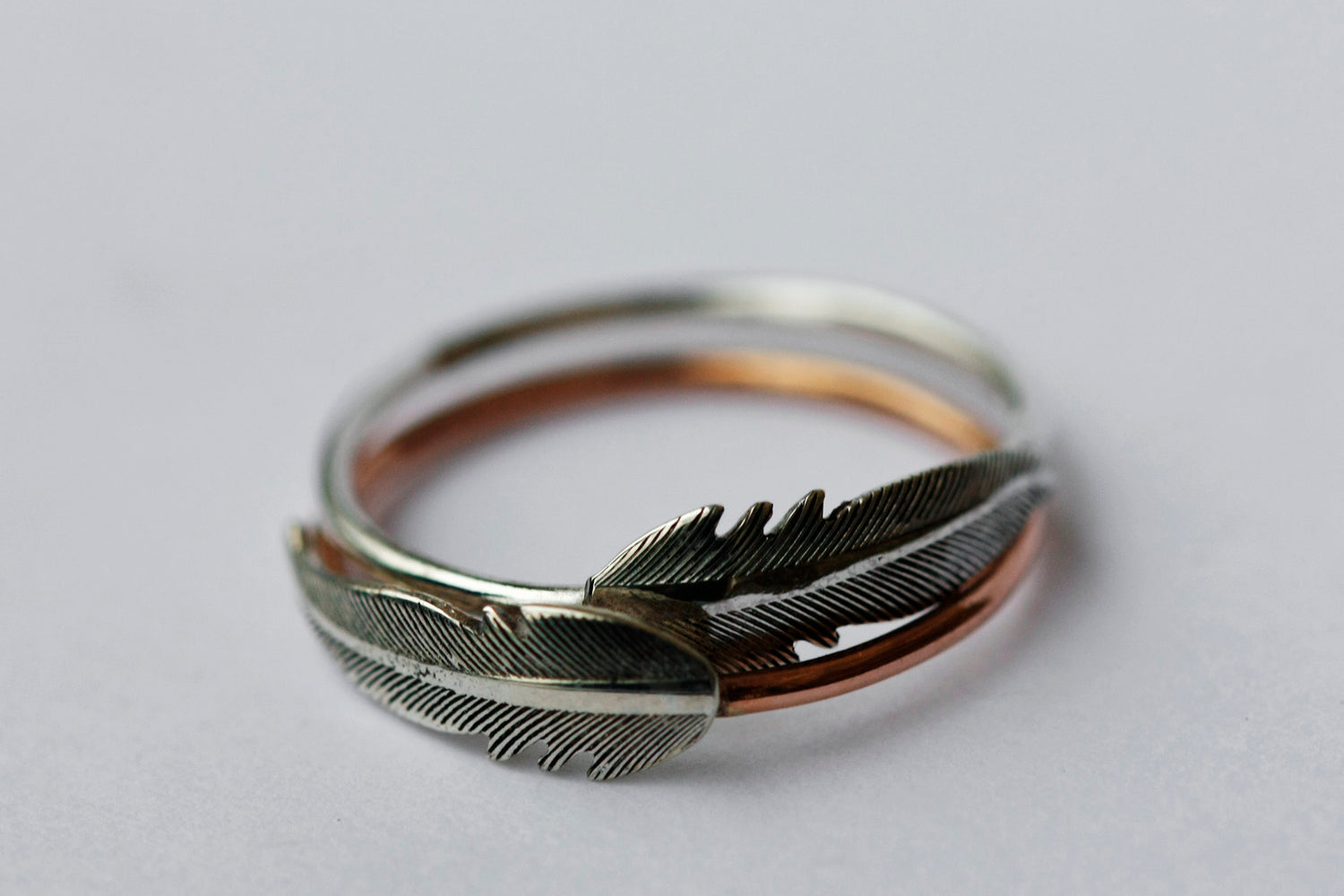 Feather Ring // Rose Gold or Silver - Little Sycamore