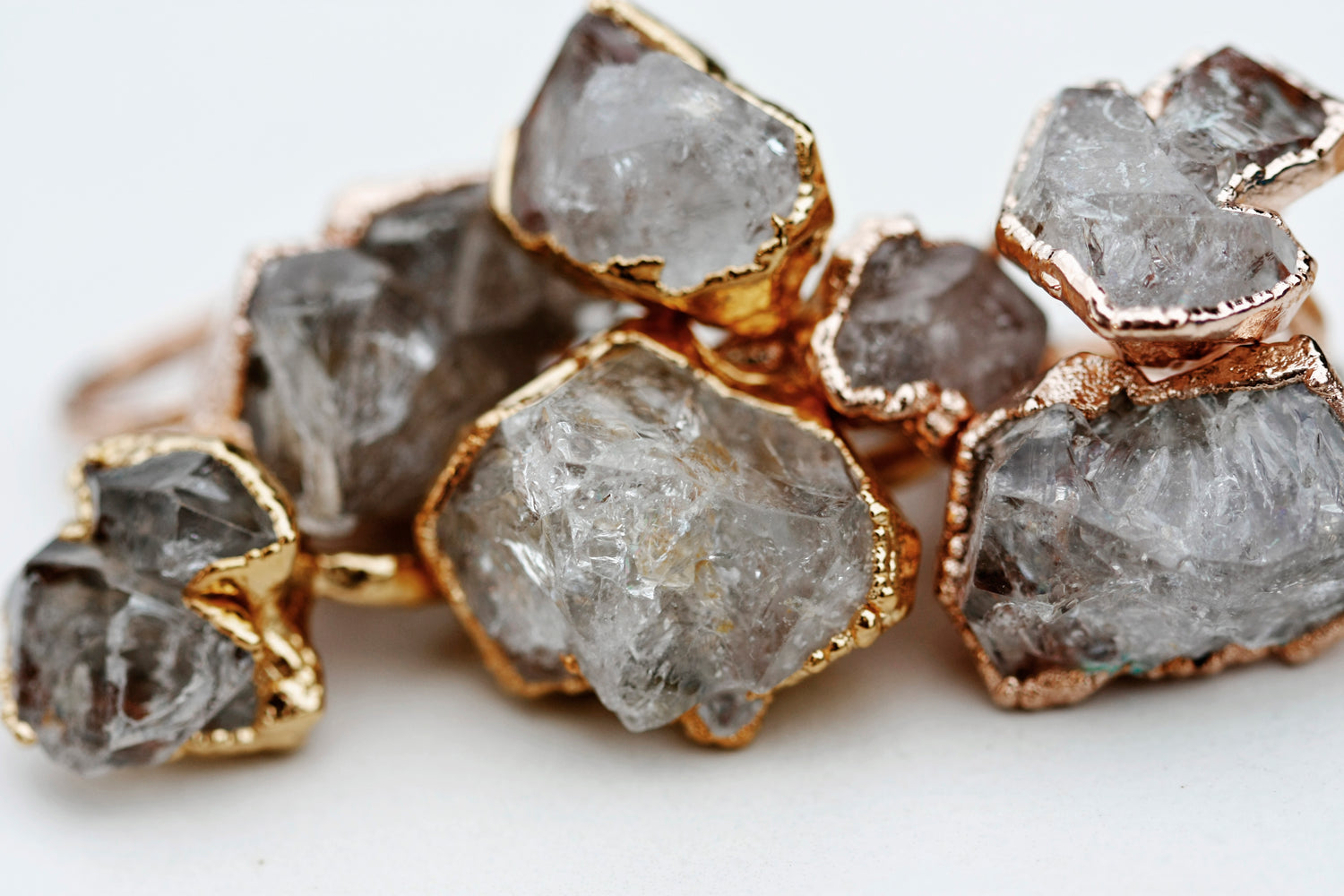 Smoky Waters Ring // Rose Gold, Gold, and Silver - Little Sycamore