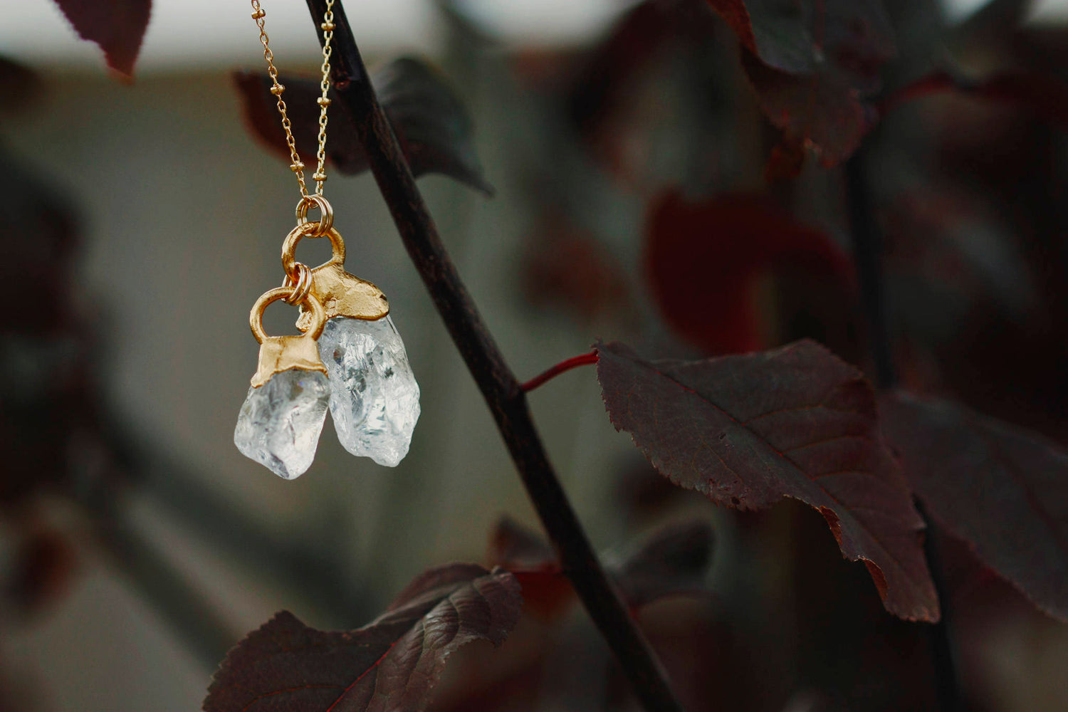Double Quartz Necklace // Gold - Little Sycamore