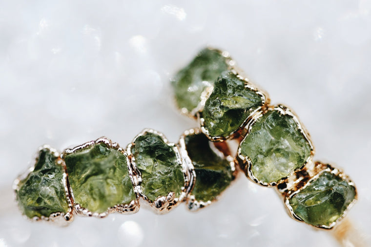 August Stackable Ring (peridot multi stone) // Rose Gold, Gold, or Silver