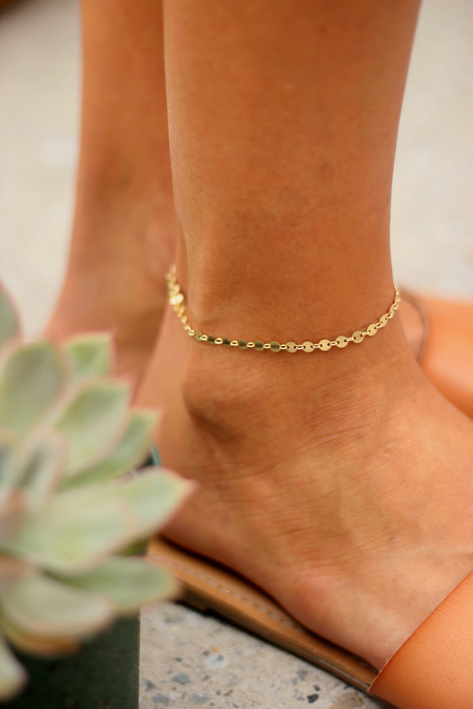 Pebble Anklet // Rose Gold, Gold, Silver