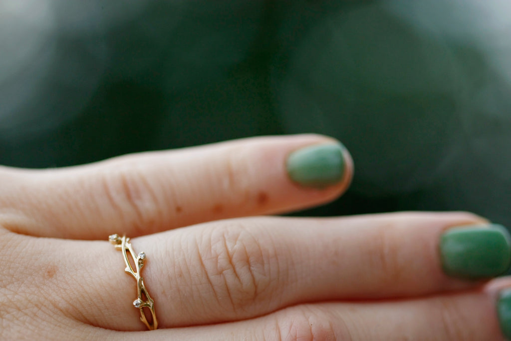 Intervined Ring // Solid Rose, Yellow, or White Gold - Little Sycamore
