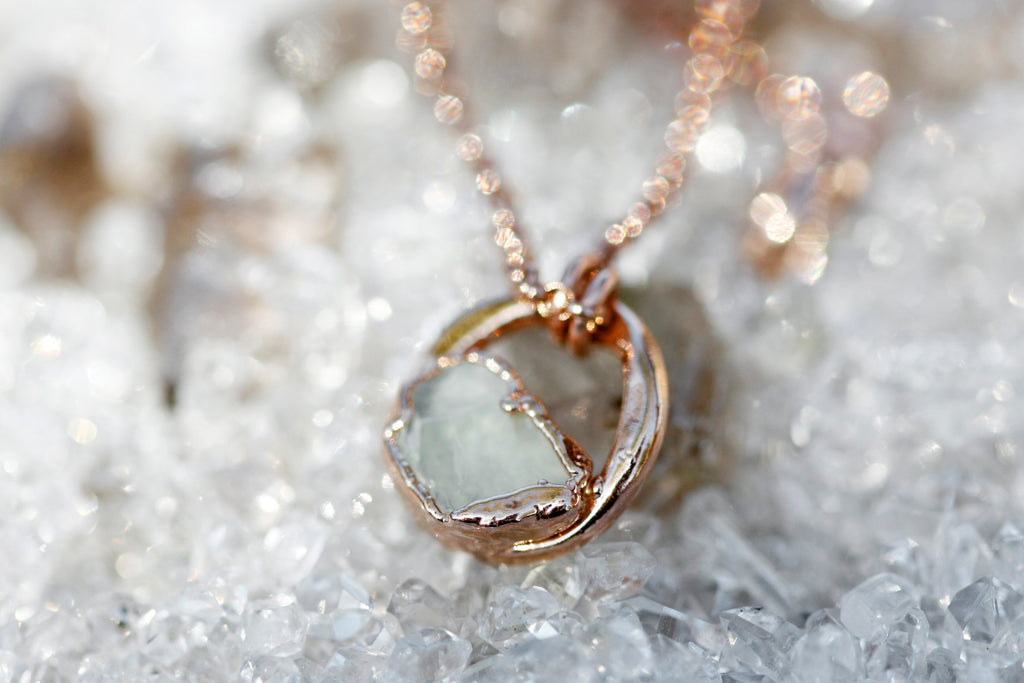 June Moment Necklace // Rose Gold, Gold, or Silver - Little Sycamore