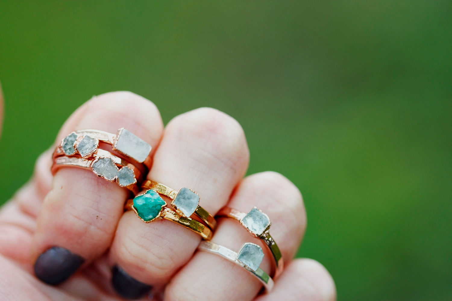 June Stackable Ring // Rose Gold, Gold, or Silver