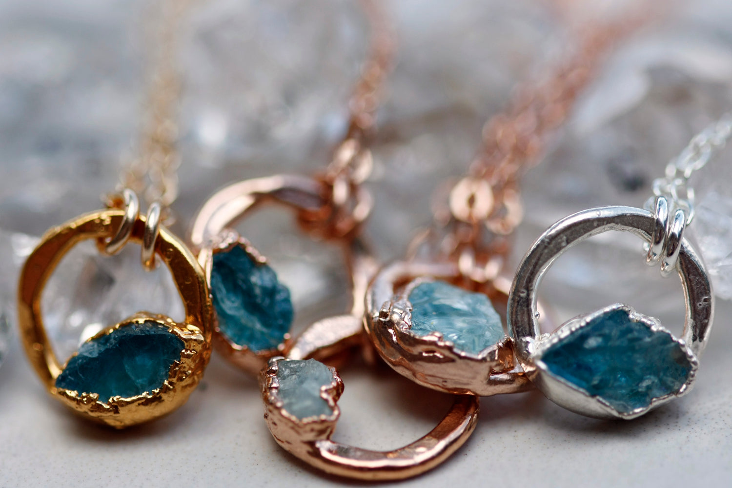 March Moment Necklace // Rose Gold, Gold, or Silver - Little Sycamore