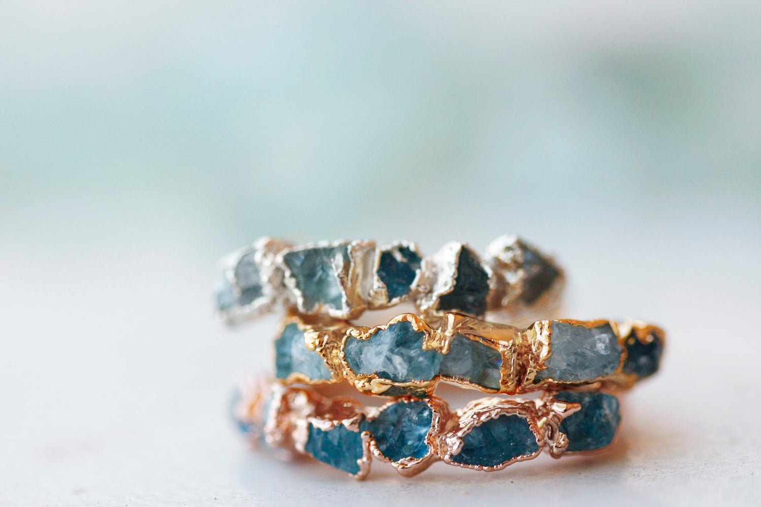 March Stackable Ring (multi stone) // Rose Gold, Gold, or Silver - Little Sycamore