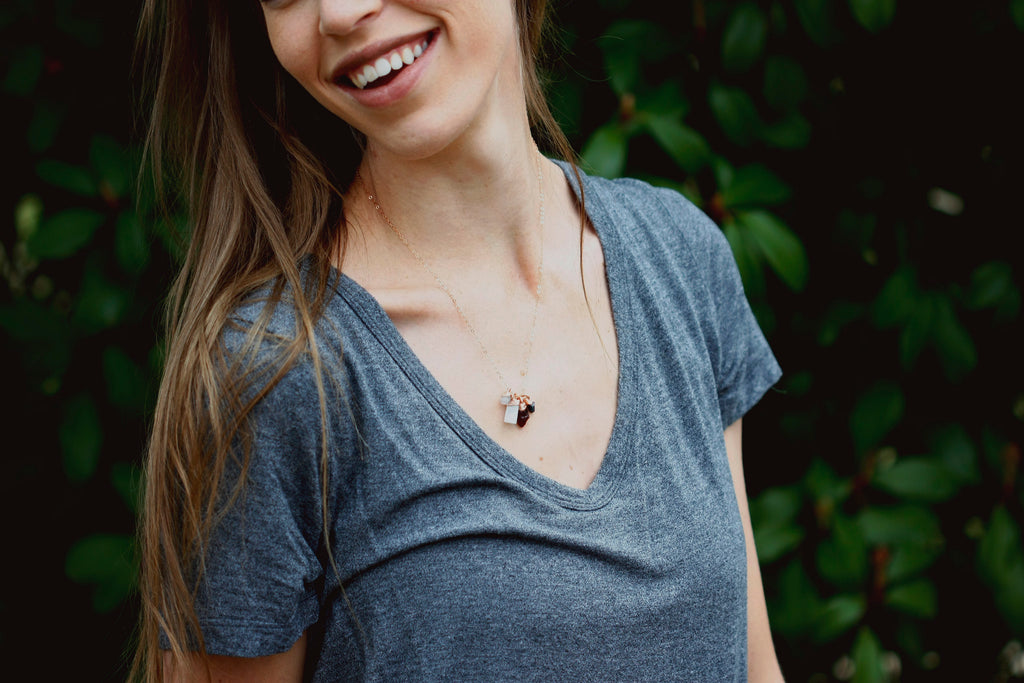 Mothers Charm Necklace // // Rose Gold, Gold, Silver