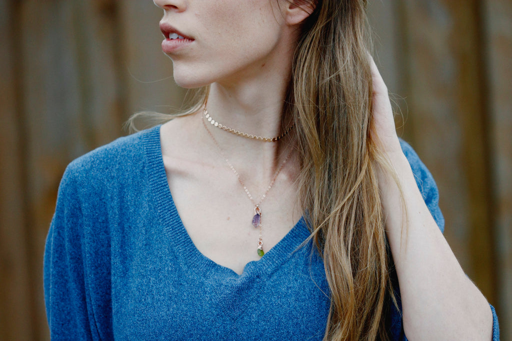 Mothers Drop Necklace // Rose Gold, Gold, Silver - Little Sycamore