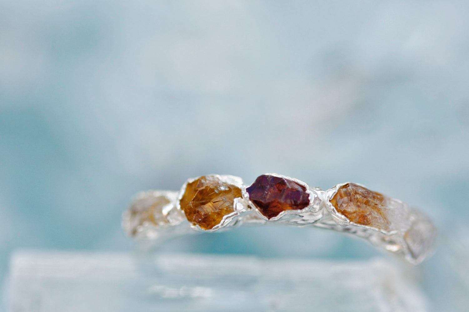 November Stackable Ring (multi stone) // Rose Gold, Gold, or Silver - Little Sycamore