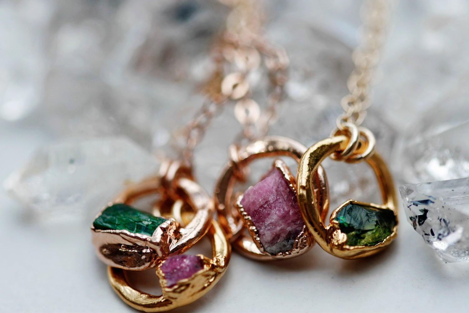 October Moment Necklace // Rose Gold, Gold, or Silver - Little Sycamore