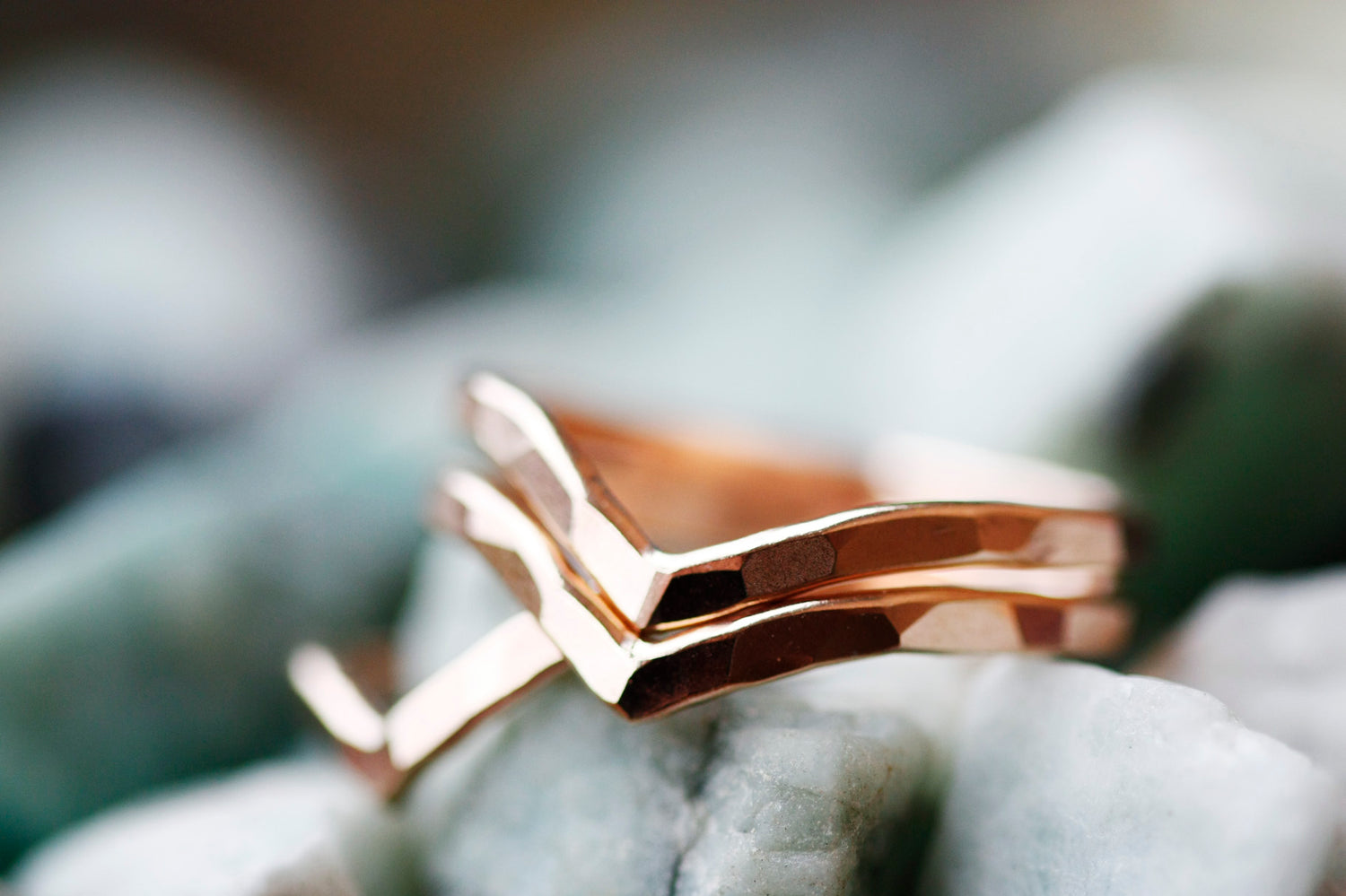 Peak Ring // Rose Gold, Gold, or Silver - Little Sycamore