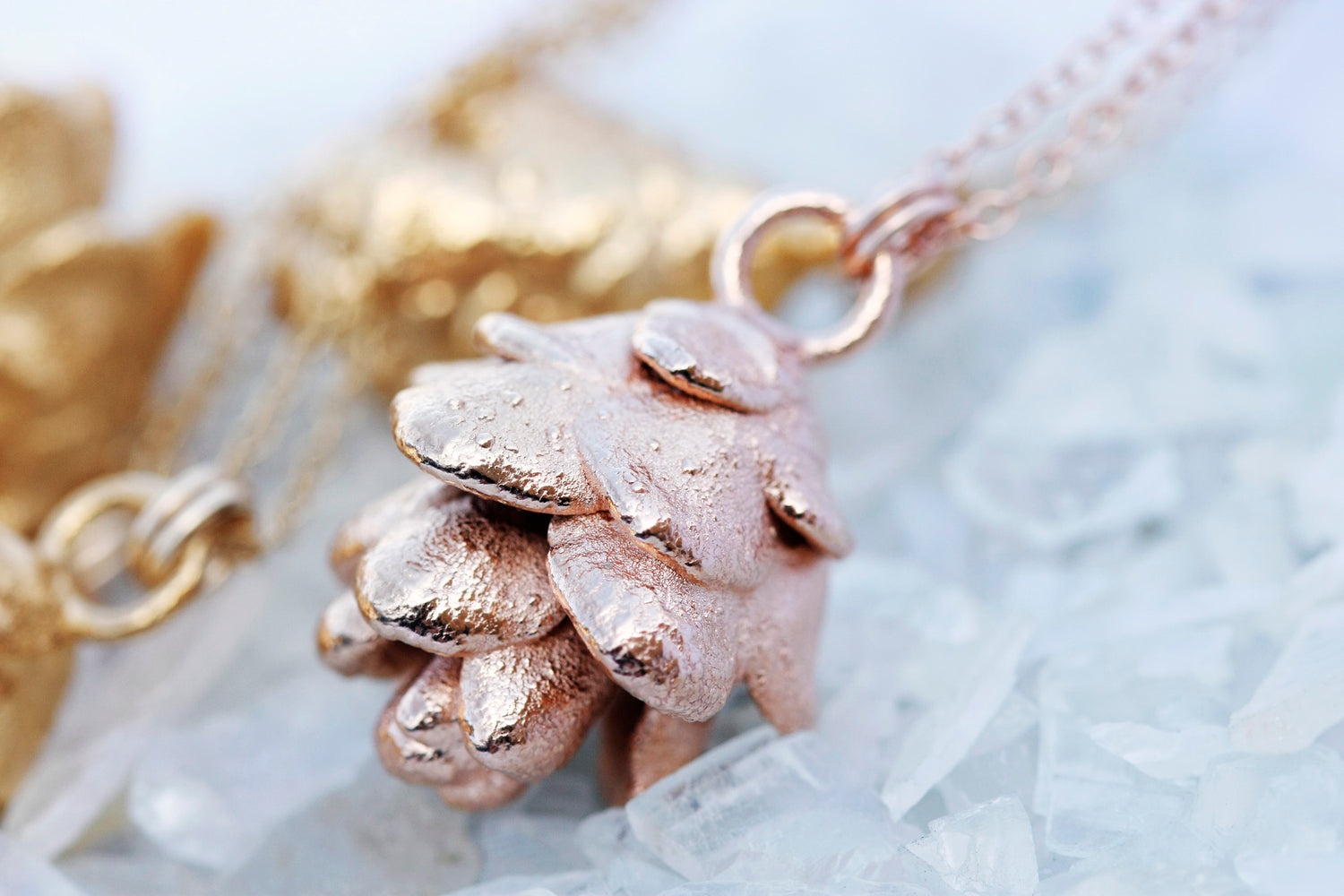 Pinecone Necklace // Rose Gold, Gold, or Silver - Little Sycamore