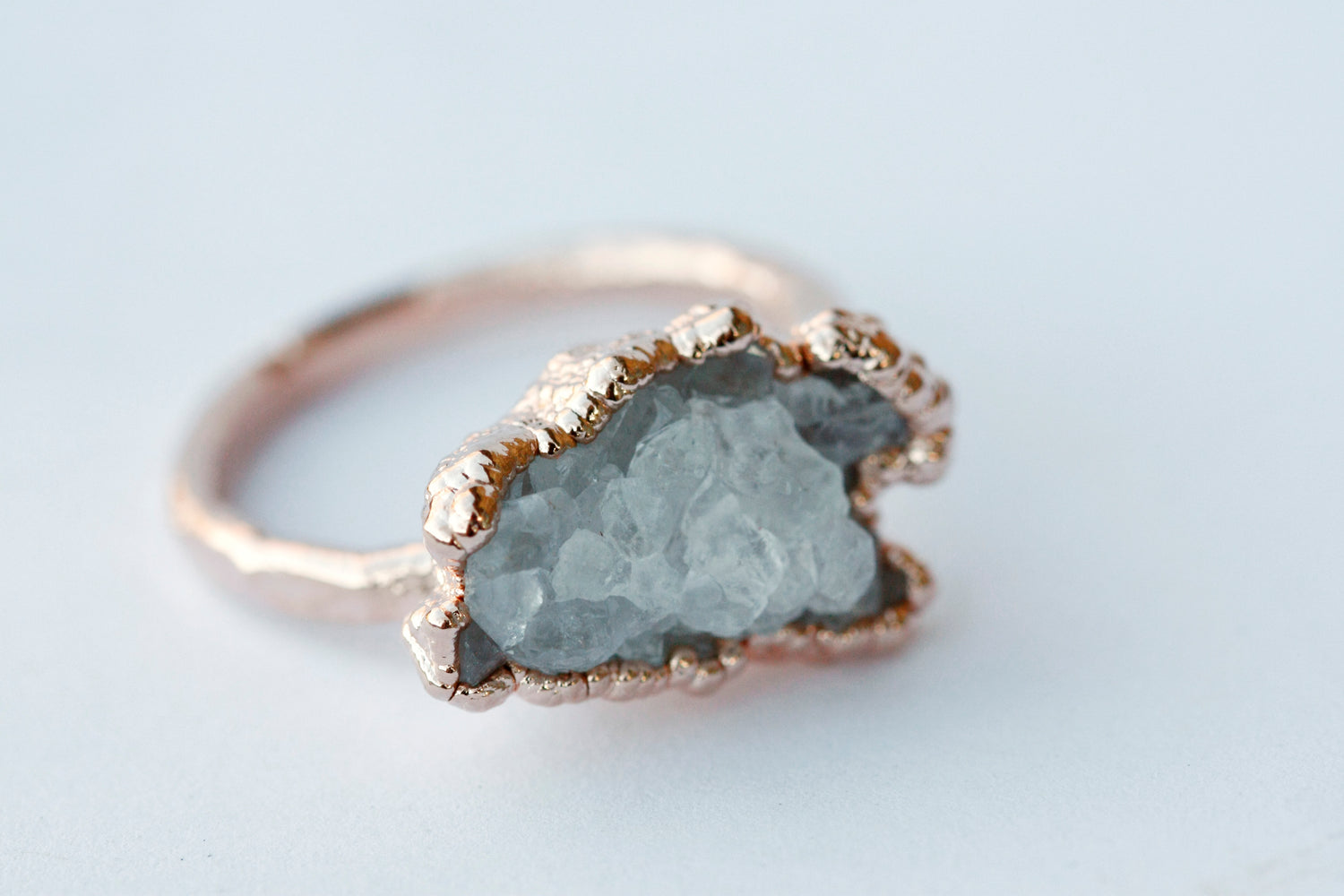 Quartz Cluster Ring // Rose Gold - Little Sycamore