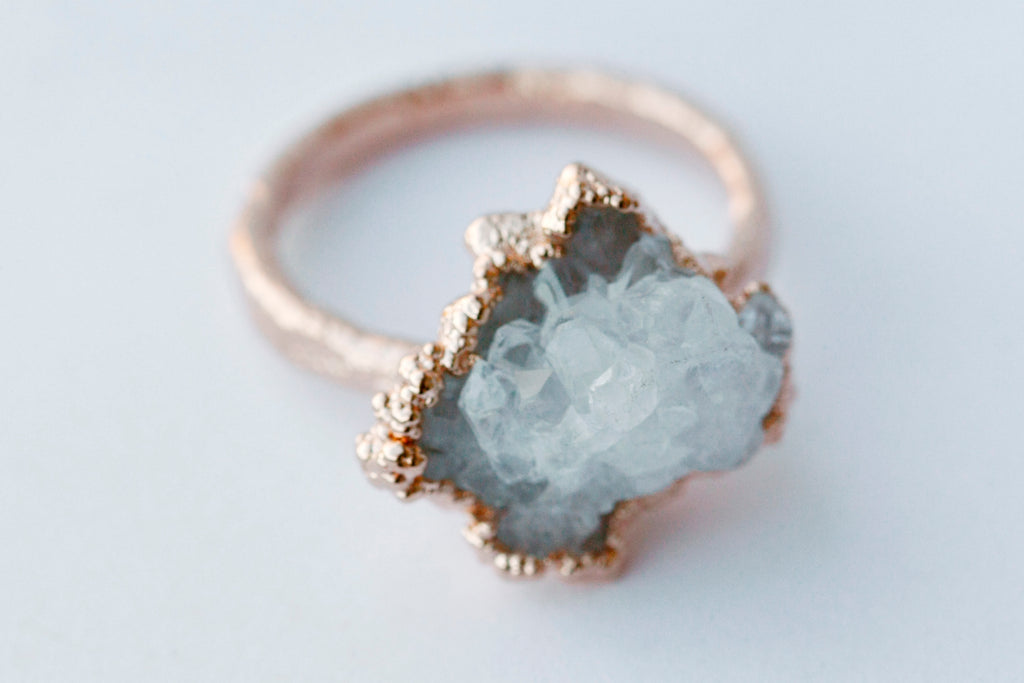 Quartz Cluster Ring // Rose Gold