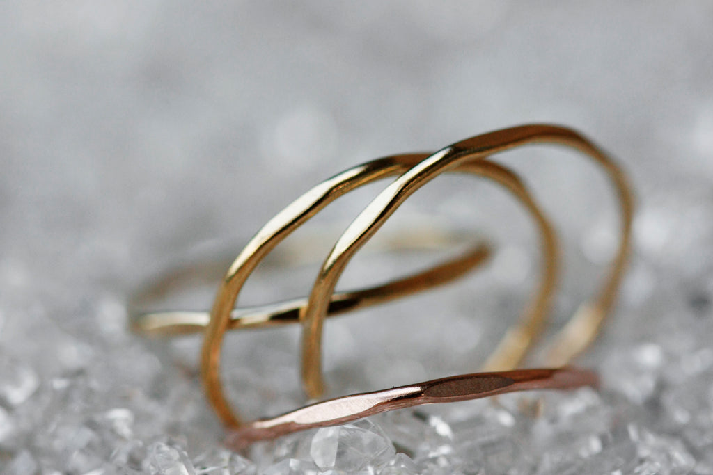 Ripple Ring // Rose Gold, Gold, or Silver - Little Sycamore