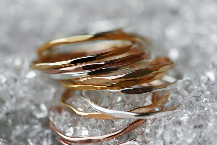 Ripple Ring // Rose Gold, Gold, or Silver