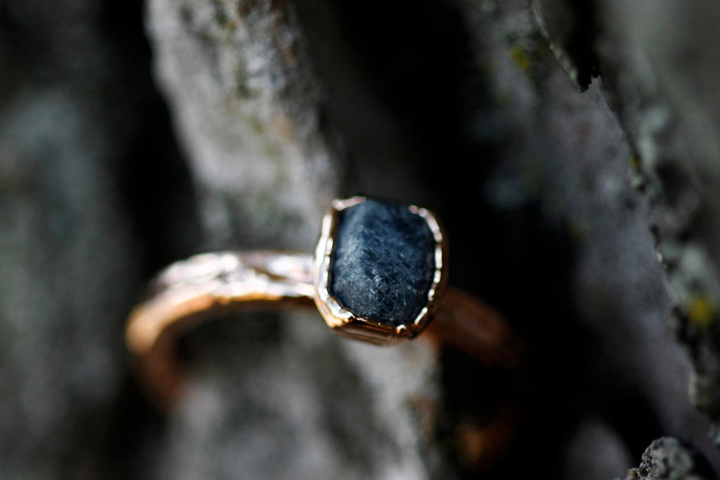September Stackable Ring (single stone) // Rose Gold, Gold, or Silver - Little Sycamore