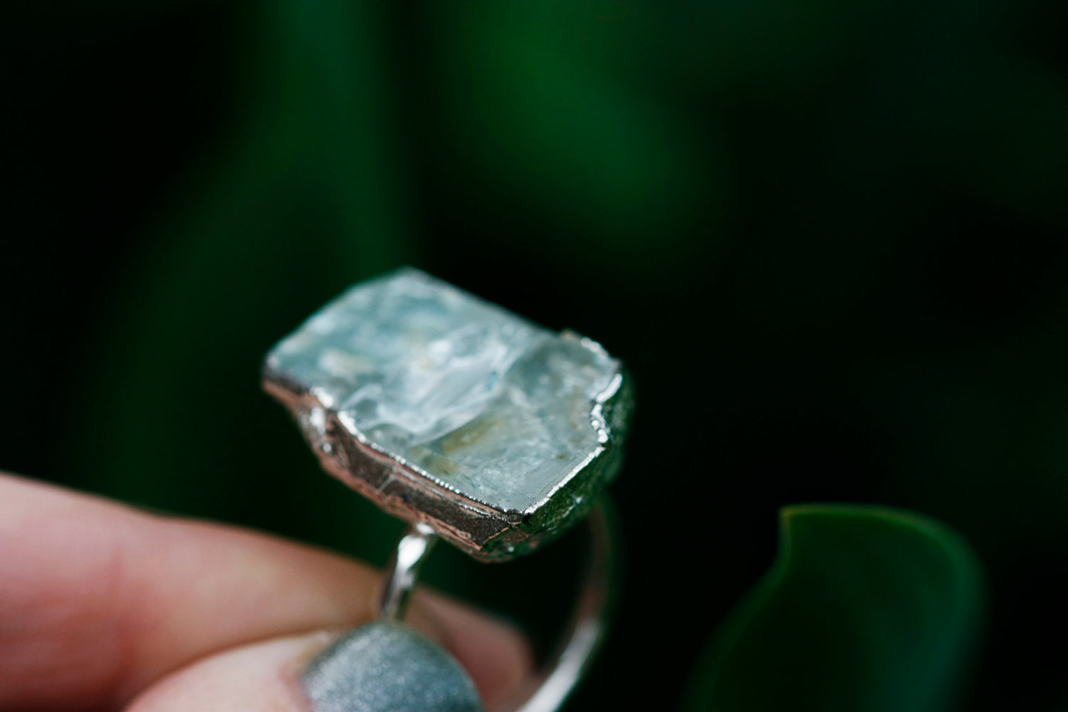 One of a Kind Aquamarine Rings // Rose Gold, Gold, or Silver