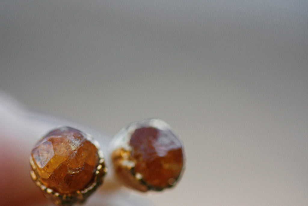 Sunshine Studs // January Birthstone in Gold - Little Sycamore