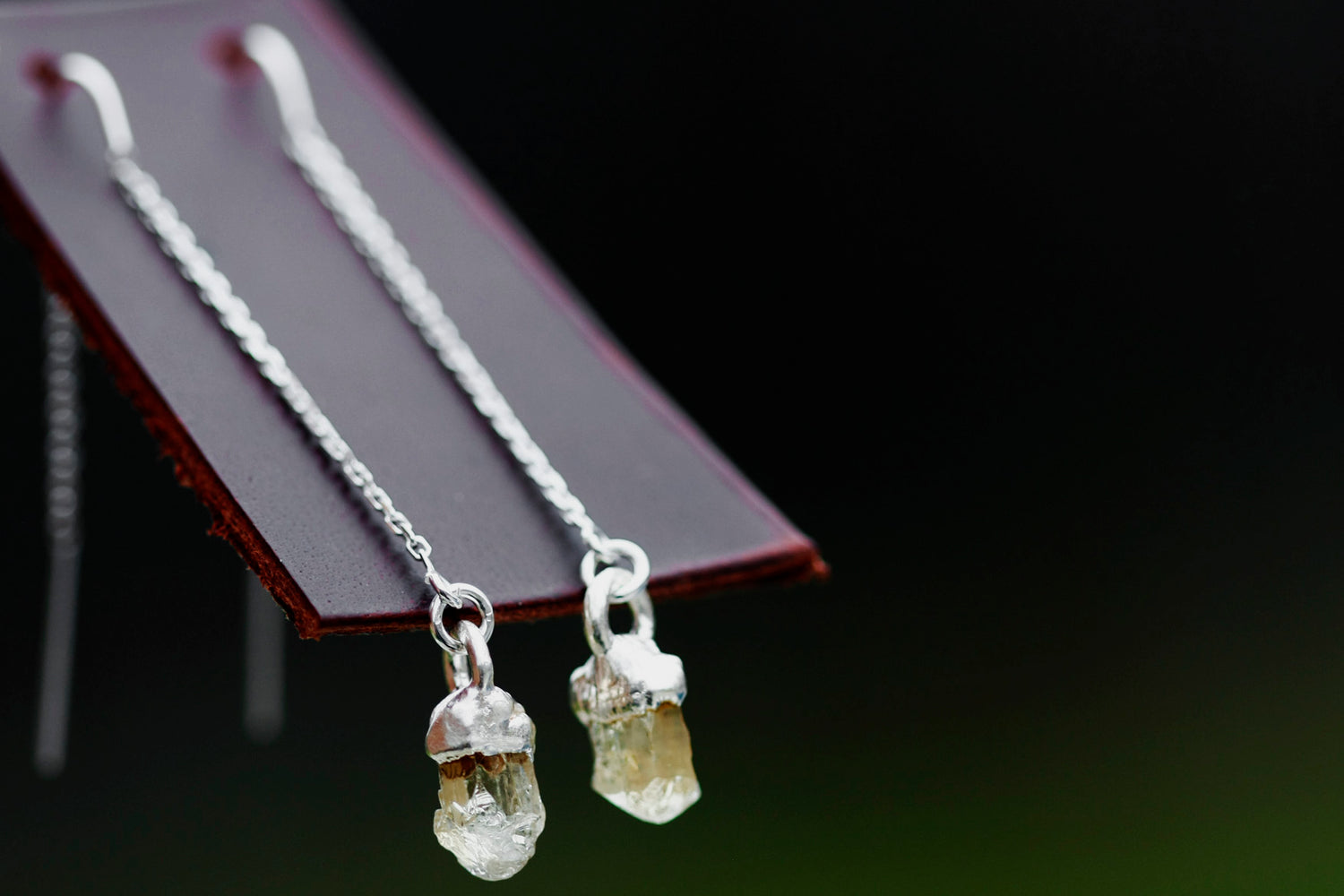 Topaz Drop Earrings // Rose Gold, Gold, or Silver - Little Sycamore