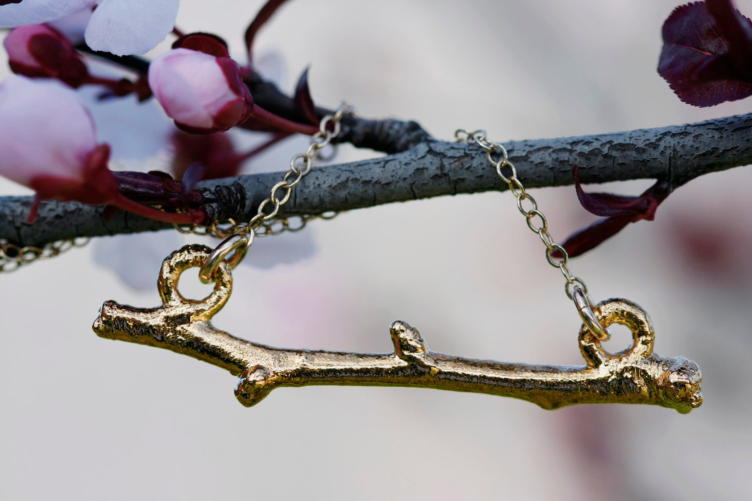 Twig Bar Necklace // Rose Gold, Gold, or Silver - Little Sycamore