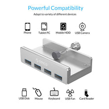 Aluminum Alloy Clip-On USB Hub for for Monitor or Desk - OnlyKey