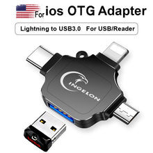 3-In-One OTG Adapter Lightning/USB-C/USB-Micro Adapter