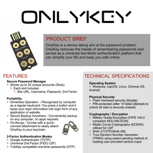 OnlyKey w/Stealth Black Case