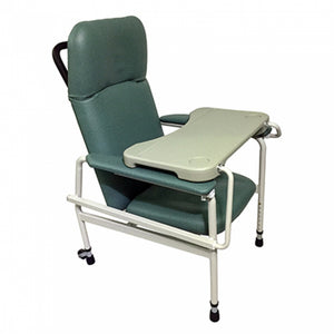 Height Adjustable Stationary Geriatric Chair with Tray