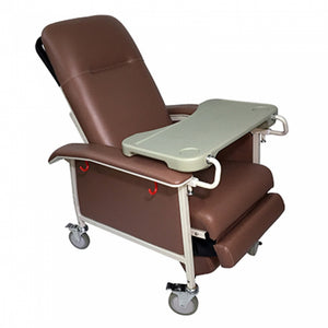 Manual Mobile Recliner Geriatric Chair with Tray